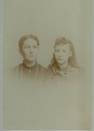 "Anne Lackey Gaines and Frances ""Fannie"" Gaines, mother and daughter"