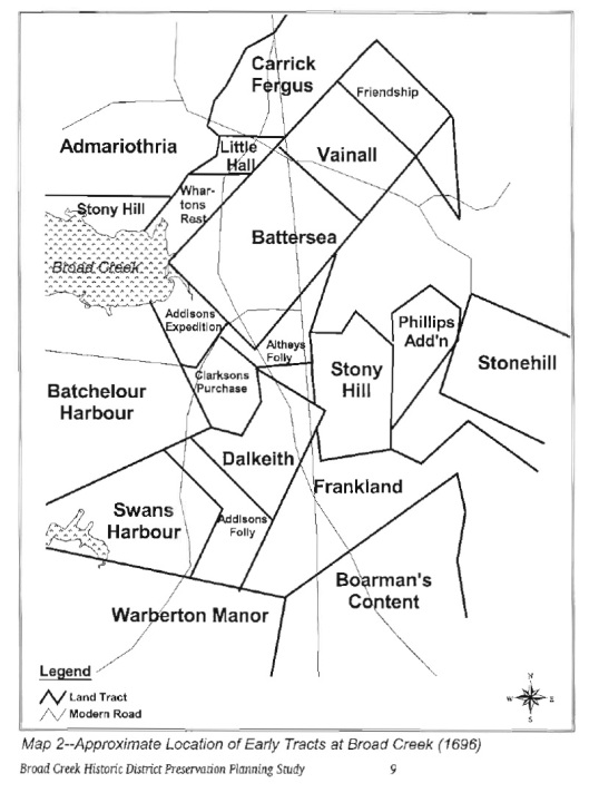 Edward Maddox land locations 1696