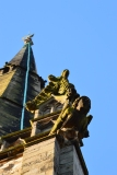 A Shrewsbury church steeple.