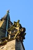 A Shrewsbury church steeple.