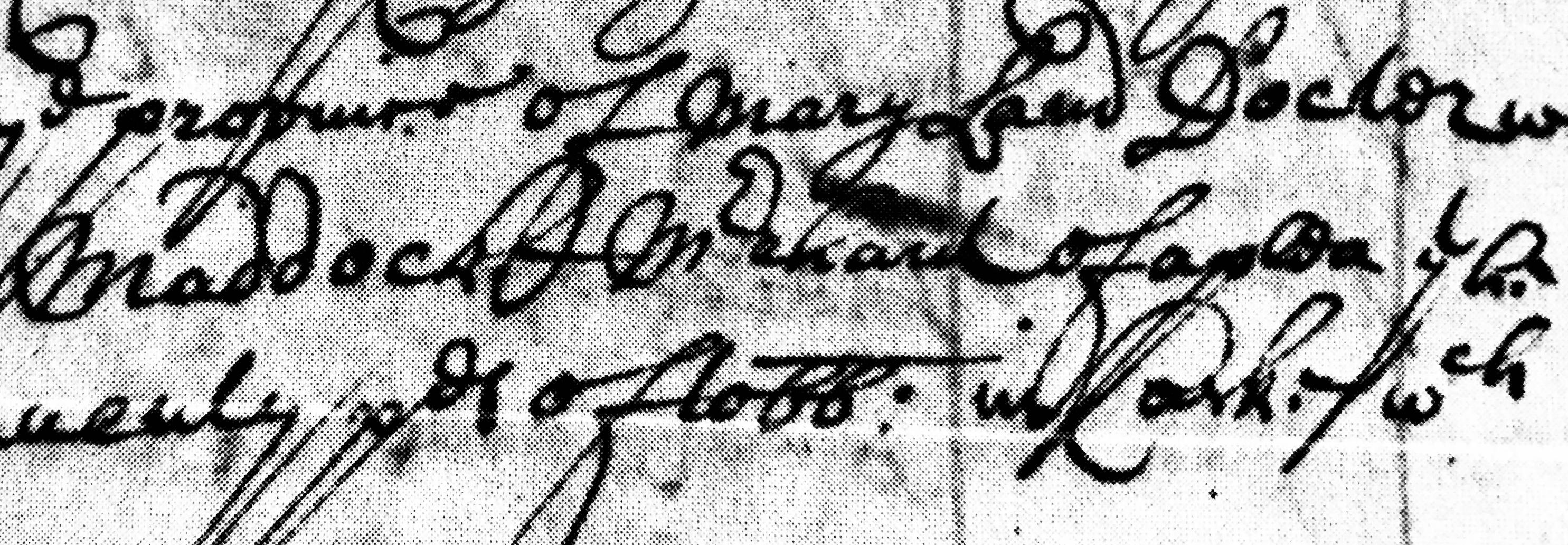 Cornelius Maddox merchant of what 1684