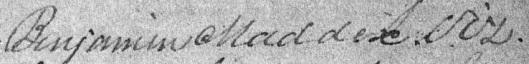 Benjamin Maddox decd or viz 1811 DeedJ p251
